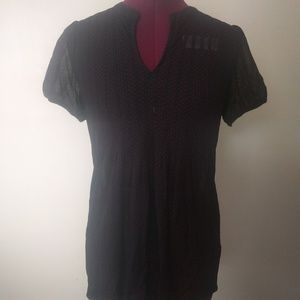 The Limited Semi Sheer Top Size Small